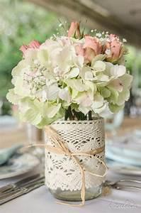 Silberne Deko Vasen : centros de mesa para casamiento con botellas frascos y flores ecolog a hoy ~ Indierocktalk.com Haus und Dekorationen