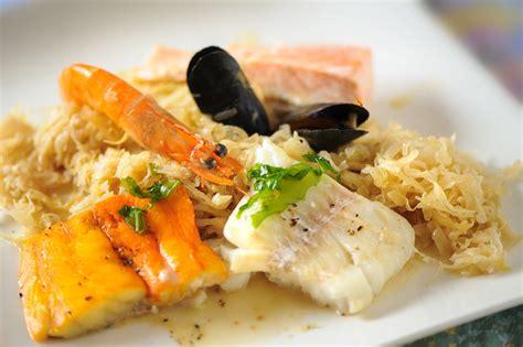 cuisiner les choux recette choucroute de la mer