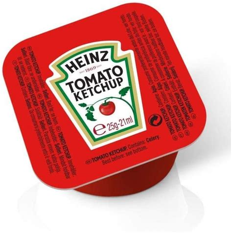 SALE Heinz Tomato Ketchup 100 x 25 g   Approved Food