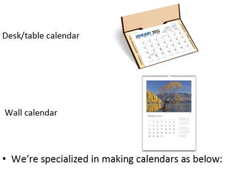 personnalis 233 calendrier de bureau impression en gros
