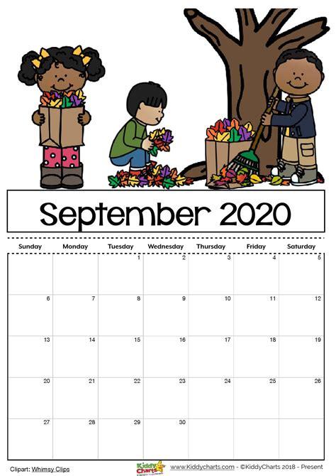 printable  calendar  kids including