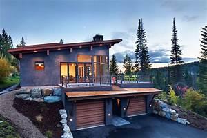 Beau chalet de ski au montana au design rustique et for Maison avec escalier exterieur 11 beau chalet de ski au montana au design rustique et