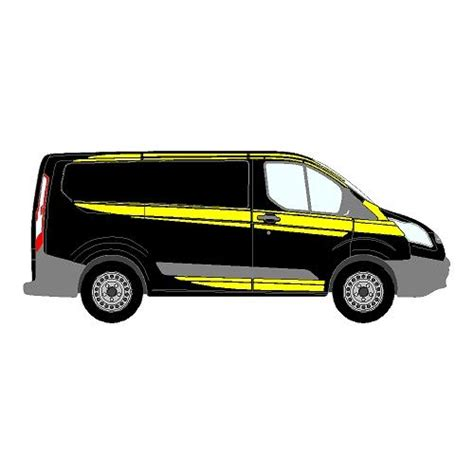 ford transit custom mk1 m sport style side markings