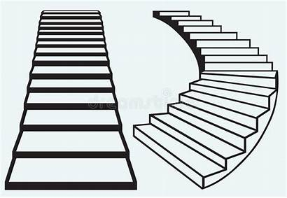 Staircase Silhouette Illustration Vector Isolated Background