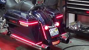 Motorcycle saddlebag led lights from chrome glow