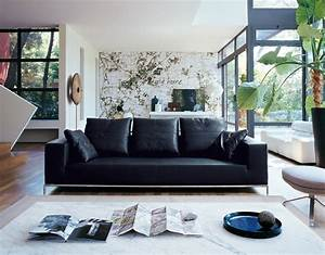 decorating a room with black leather sofa traba homes With decorate living room black leather furniture