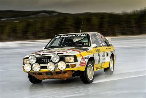 audi quattro rally cars heading  eifel rallye festival