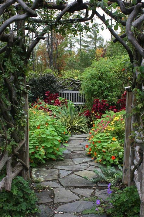 secret garden landscape design beautiful garden paths made of natural stone quiet corner