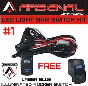 1 Heavy Duty Wire Harness Kit Led Light Bars Rocker Switch 17ft Of 14g Wiring