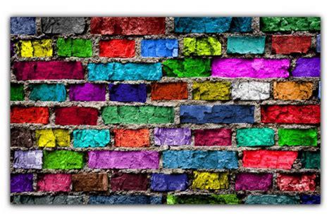 vieux livre de cuisine tableau pop mur de briques multicolore 80x55 cm