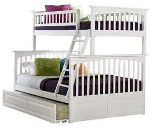 columbia twin full bunk bed raised panel trundle