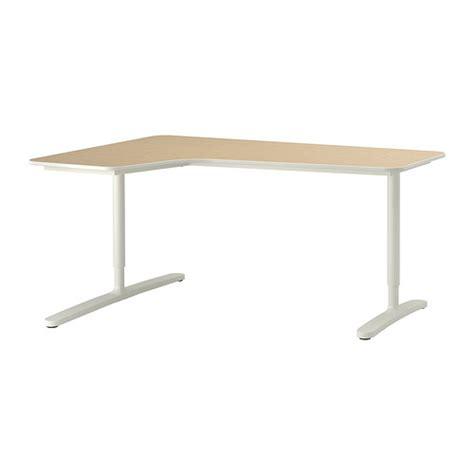 bureau d angle blanc ikea bekant bureau d 39 angle gch bouleau plaqué blanc ikea