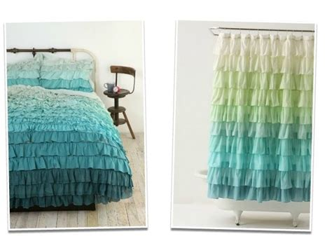 Ombre Shower Curtain - leaf house diy ombre curtains