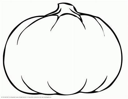 Pumpkin Printable Outline Coloring Shape Template Autumn