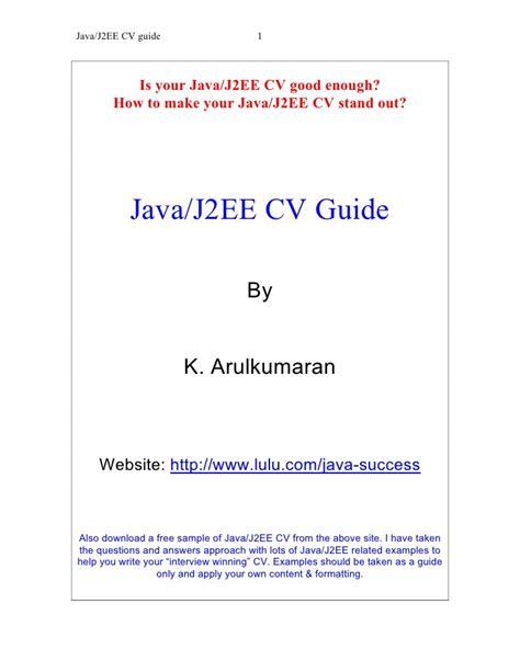 Java J2ee Resume by Java J2ee Cv Guide