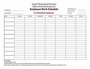 employee work schedule template google docs schedule With work schedule template google docs
