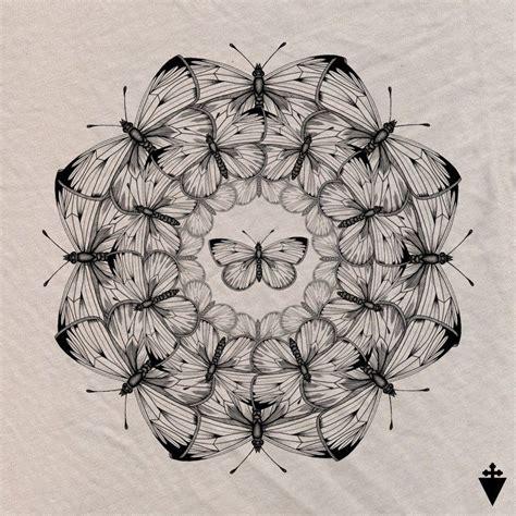 cool tattoo mandala butterflies design beautiful tattoos
