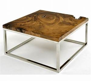 Contemporary rustic wood furniture live edge tables for Modern natural wood coffee table