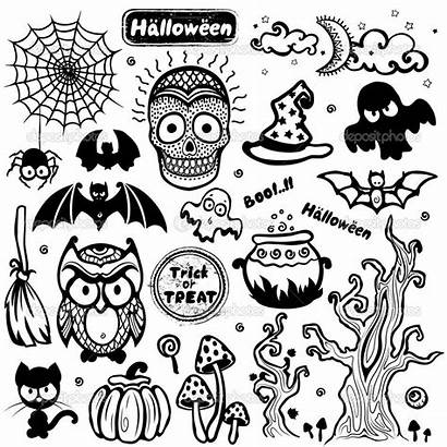 Halloween Vector Silhouette Business Icons Seamless Owls