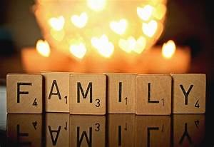 Art photography pop Family Scrabble Words Whimsical