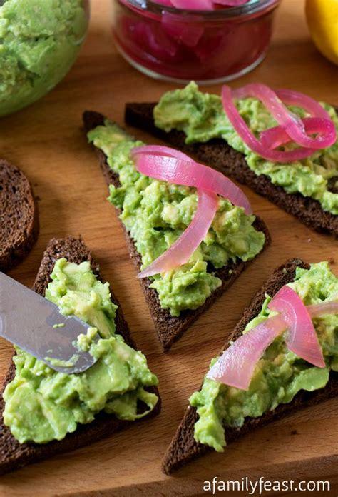 toast canapes avocado rye canapés