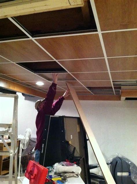 wood panel drop ceiling drop ceiling basement dropped