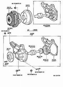 Toyota Celica Pump Assembly  Engine Water  Main Engine