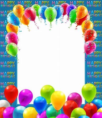 Birthday Transparent Happy Balloons Frames Frame Clipart