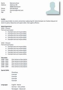basic cv templates in microsoft word land the job with With basic cv templates