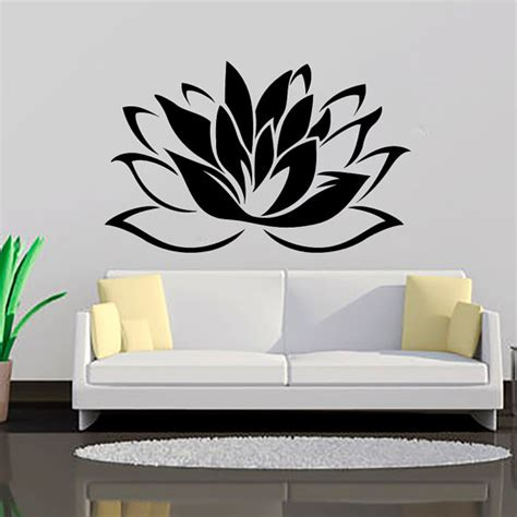 flower decals for bedroom lotus flower wall decal vinyl sticker wall decor home by