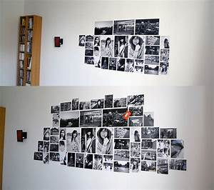 Photo wall collage without frames layout ideas
