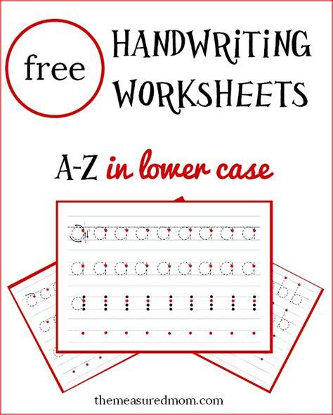 lowercase handwriting worksheets   lines