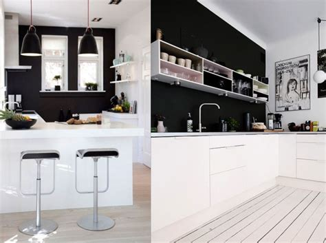 mur noir cuisine déco cuisine mur noir