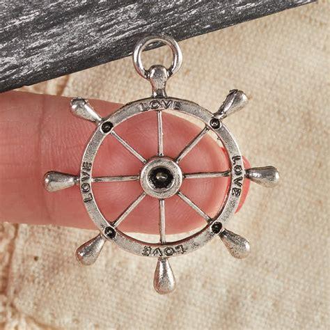 silver love nautical charm charms pendants jewelry