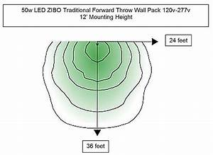 50w Commercial Led Wall Pack With Photocell 120