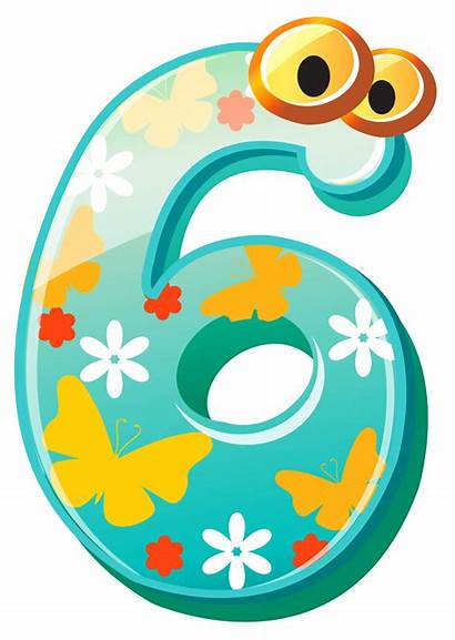 Number Six Clipart Clip