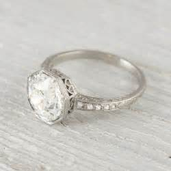 antique deco engagement rings 2 30 carat vintage deco engagement ring