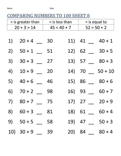 compilation of best grade 8 math worksheets printable