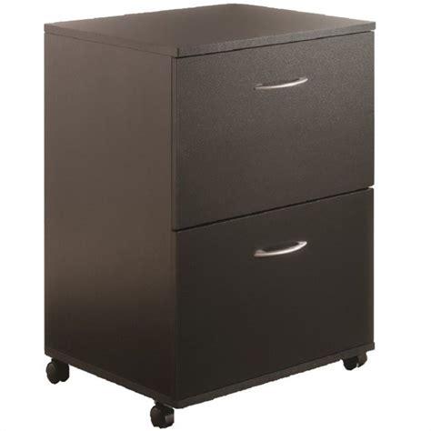black wood two drawer file cabinet nexera mobile 2 drawer mobile wood black filing cabinet ebay