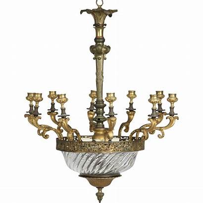 Chandelier Crystal Candelabra French Antique Early 20th