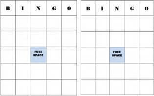 Make Your Own Bingo Cards Printable