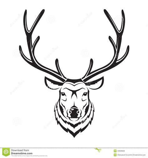 t 234 te de cerfs communs illustration de vecteur illustration du troph 233 e 44929626