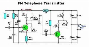 Electronic Fm Telephone Transmitter Circuit