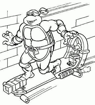 desenhos print paint tartarugas ninjas  imprimir