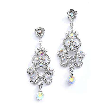 chandelier earrings wedding ab vintage