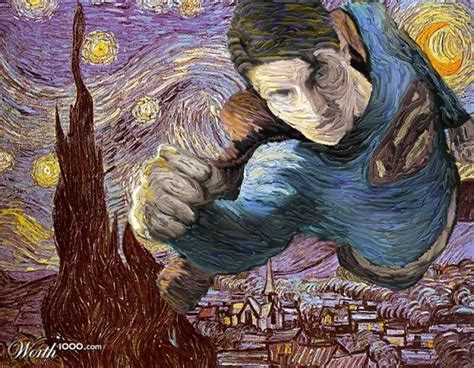 Superheroes In Famous Paintings