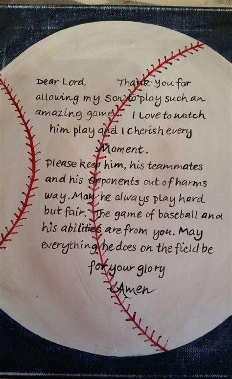 baseball prayer hand painted  canvas  carencreates