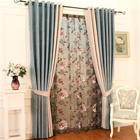 Country Style Curtains And Drapes - country style curtains with feature of room darkening