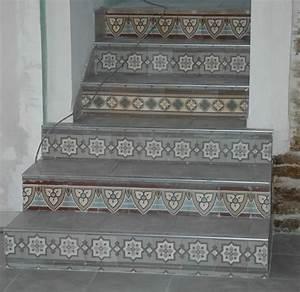 carreaux ciment anciens et de paray le monial synopquotsys With carreau ciment escalier
