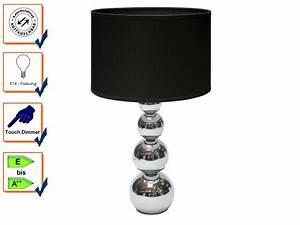 Nachttischleuchte Touch Funktion : elegante schirm tischleuchte schwarz mit touch funktion 3 stufig dimmbar kaufen bei setpoint ~ Orissabook.com Haus und Dekorationen